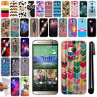 For HTC One 2 M8 Phone TPU SILICONE Rubber SKIN Soft Protective Case Cover + Pen