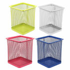 Office Metal Mesh Cuboid Design Pen Pencils Holder Organizer Storage Box