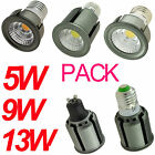 3X 6X Dimmable Spotlight 5W 9W 13W E26 GU10 COB Led Bright Light Lamp 110V White