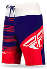 FLY Racing Influx Mens Board Shorts Red/Blue/White