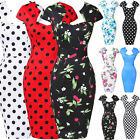 Women Slim Bodycon Cap Sleeve Evening Sexy Party Cocktail Pencil Dress Business