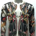 ls18 Japanese Irezumi Tattoo Long Sleeve T-shirt Samurai Ninja Warrior Cotton