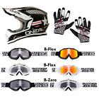 O'Neal 3 Series Afterburner Combo Set MX DH Helm Brille Handschuhe Moto Cross