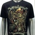 g13 Rock Chang T-shirt Tattoo Skull Glow in Dark Pirate King Ghost Men Cotton