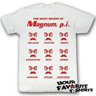 Magnum P.I Many Moods Of Officially Licensed Adult Shirt S-2XL