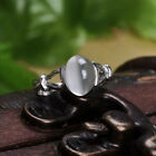 White Luxury Pigeon Eggs Size Moonstone Bella's Ring Women Wedding Jewelry Gift