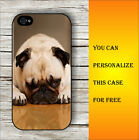 DOG PUG ONE EYE NAP CASE FOR iPHONE 4 5 5C 6 -v4tg5