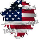 American Flag Beard Vinyl Sticker Decal hunting USA hair redneck woodsman