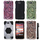 For ZTE Overture 2 2nd Gen 2015 Z810 Fanfare PATTERN HARD Case Phone Cover + Pen