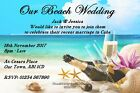 Personalised Beach Wedding Invitations Married Abroad Reception Champagne Beach