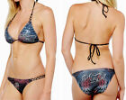 Sinful by Affliction CEDAR Women's Swimwear Bikini - SM426 - NEW - Black