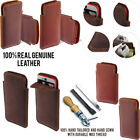 For HTC Desire EYE Slim Sleeve Genuine Real Leather POUCH Case Cover + Pen