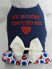 """DOG CAT FERRET Custom Rescue Harness~""""MY MOMMY RESCUED ME"""" Promote Adoption Bow"""