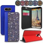 For LG G5 H850 Bling Rhinestone Crystal Diamond Leather Flip Stand Wallet Case