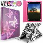 360 Degree Universal PU Leather Stand Case Cover For 7'' 8'' 10'' Inch Tablet