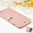 Luxury Flip Leather Wallet Card Case Cover for girls's cell phone Hot Fashion
