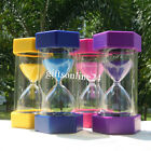 Plastic Round Sand Clock Hourglass Timer 20 min Xmas Gift Student Learning Tool