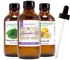Essential Oil 4 oz with Free Glass Dropper,  All Pure Natural Uncut, 50+ Oils
