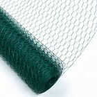 Woodside 25m PVC Coated Chicken Rabbit Wire Mesh Fence Garden Fencing
