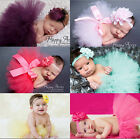 Baby Kids TUTU Dress Hair Band lace skirt suit feather baby suit hair accessory