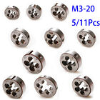 5 / 11Pc Metric Left Hand Thread Die 0.7mm-2.5mm Diameter Pitch Mold M3 to M20