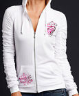 Sinful by Affliction VORTEX Woman's Hooded Track Jacket - 05TJ404 - NEW - White