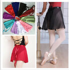 Adult Women Girls Kids Child Ballet Dance Wrap Over Scarf Skirt Costume 10 Color