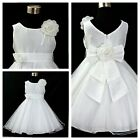 W668 White Wedding Party Dress Bridesmaid Flower Girls Dresses AGE SIZE 1 to 14Y