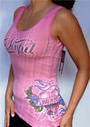 Sinful by Affliction - LOVE AND PRIDE - Woman's Tank Top with Rhinestones - Pink