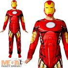 Classic Iron Man Mens Fancy Dress Superhero Comic Book Avengers Adults Costume