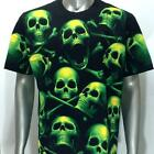 r190 Rock Eagle T-shirt SPECIAL Tattoo Glow in Dark Cotton Casual Haunted Skull