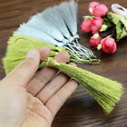 "20PCs Polyester 2 3/8"" Silk Satin Tassels Golden Silver M12952"