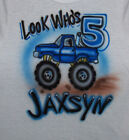 MONSTER TRUCK BIRTHDAY T SHIRT NEW PERSONALIZED INFANT, TODDLER & YOUTH SIZES