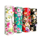 PU Leather Floral Pattern Makeup Nail Art Brushes Holder Set Tool Empt Case