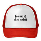 Keep Out Of Direct Sunlight Funny Adjustable Trucker Hat Cap