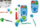 Steripod - Clip-On Toothbrush Sanitizer (Single Pack / Dual Pack)