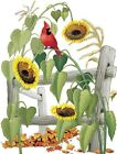 Sunflowers and Red Cardinal  Tshirt   Sizes/Colors