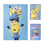 Kids Minion Blanket Cosy Throw Despicable Me Character Fleece Bedding Home