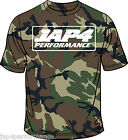 Jap4performance Camo T shirt with Jap4 logo as worn by Gino Rea in WSS