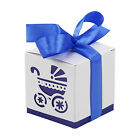10pcs Pierced Laser Cut Carriage Gift Candy Boxes Wedding Favour Baby Shower