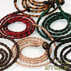 BRAIDED WAXED NECKLACE for PENDANTS cotton band bracelet surfer tribal vintage