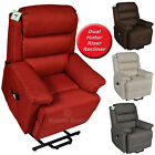 VALENZIA BRAND NEW ELECTRIC DUAL MOTOR LUXURY FABRIC RISER RECLINER LIFT CHAIR