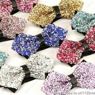 Free shipping NEW FASHION MENS ADJUSTABLE crystal WEDDING PROM PARTY BOW TIE