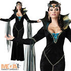 Deluxe Evil Queen Sorceress Ladies Halloween Vampire Fancy Dress Costume Outfit