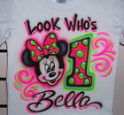 MINNIE MOUSE PERSONALIZED BIRTHDAY T-SHIRT PERSONALIZED INFANT AND TODDLER SIZES