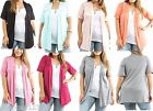 Short Sleeve Shrug Open Front Cardigan/Cover-Up Plus Top * 8 Colors *