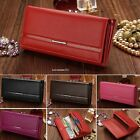 Women Fashion PU Leather Clutch Wallet Card Holder Ladies Long Purse Handbag Bag