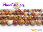 Natural Round Crazy Lace Agate Gemstone Beads For Jewelry Making Strand 15'' DIY