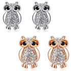Fashion Alloy Lovely Shape Owl Earring Rhinestones Beads Girl's Jewelry