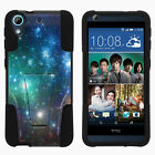 For HTC Desire 626 & 626s| Hybrid Hard Bumper Stand Case Galaxies